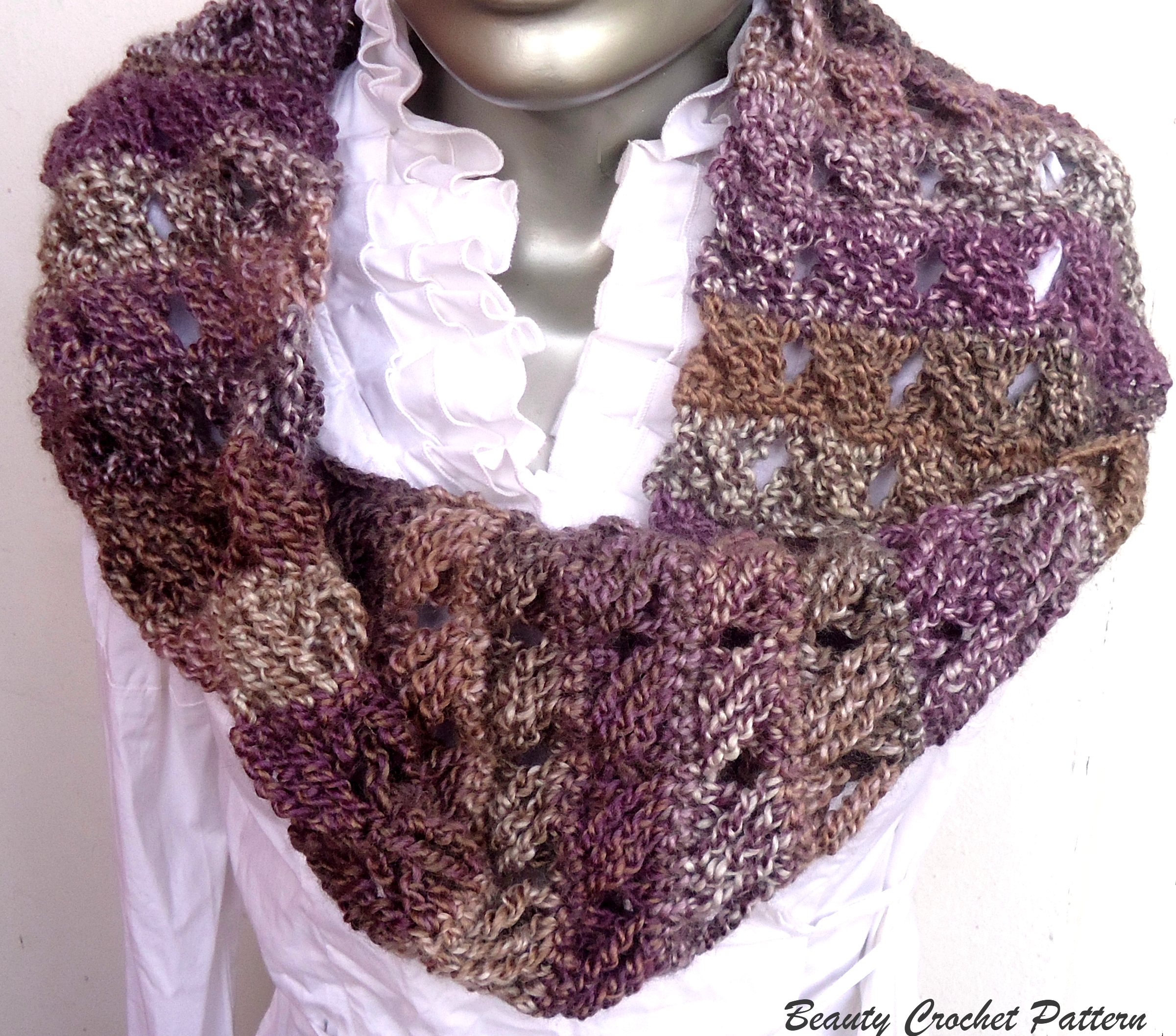 Crochet Pattern Scarf Cow, Cowl Crochet Pattern, Neckwarmer Crochet ...